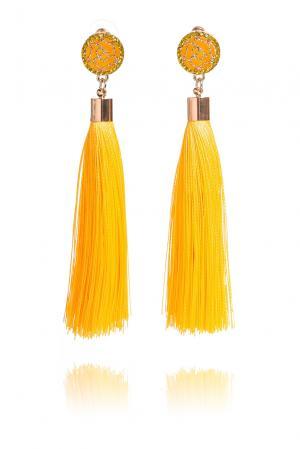 Серьги 192534 Branca Flor. Цвет: желтый