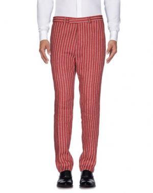 Повседневные брюки BRIAN DALES. Цвет: кирпично-красный