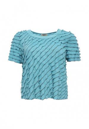 Блуза Bassini. Цвет: бирюзовый