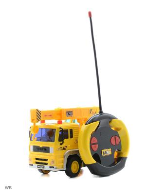 Машина р/у с подъемным краном Drift. Цвет: желтый