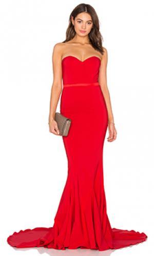 Вечернее платье ariana Elle Zeitoune. Цвет: красный