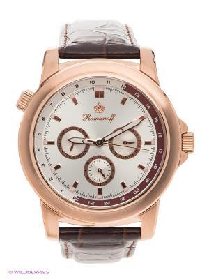 Часы наручные Romanoff. Цвет: золотистый, белый, коричневый