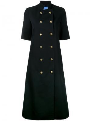 Удлиненное пальто Temperate Macgraw. Цвет: чёрный