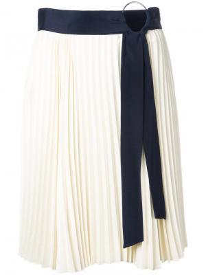 Пплиссированная юбка 3.1 Phillip Lim. Цвет: белый