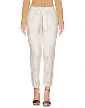 Повседневные брюки SOHO DE LUXE. Цвет: слоновая кость