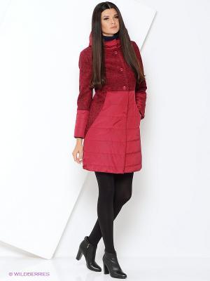 Пальто демисезонное DizzyWay. Цвет: бордовый