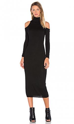 Вязаное миди платье lindsay Deby Debo. Цвет: черный
