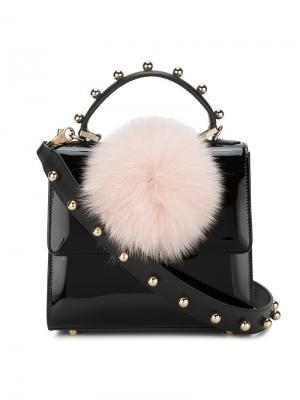 Мини-сумка на плечо Alex Bunny Les Petits Joueurs. Цвет: чёрный