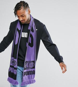 Puma Фиолетовый шарф в стиле ретро эксклюзивно для ASOS. Цвет: фиолетовый