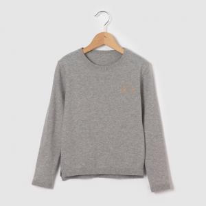 Пуловер с принтом на  3-12 лет R essentiel. Цвет: серый меланж
