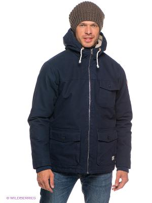Куртка BROOKS Quiksilver. Цвет: темно-синий