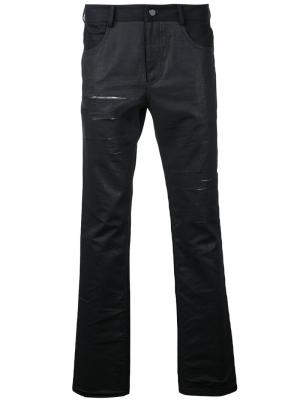 Distressed slim-fit jeans General Idea. Цвет: чёрный