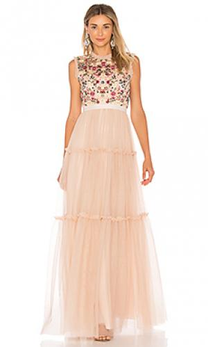 Вечернее платье beatrix Needle & Thread. Цвет: розовый