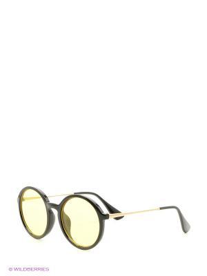 Солнцезащитные очки Vita pelle. Цвет: черный, желтый