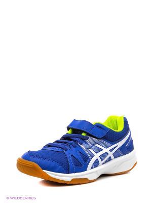 Спортивная обувь PRE-UPCOURT PS ASICS. Цвет: синий, белый, желтый