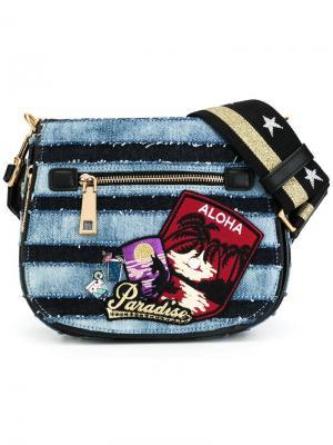 Маленькая джинсовая сумка на плечо Nomad Marc Jacobs. Цвет: синий