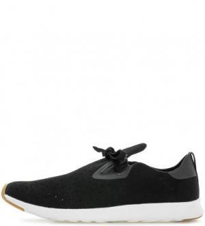 Черные текстильные кроссовки с вкладной стелькой Native. Цвет: черный