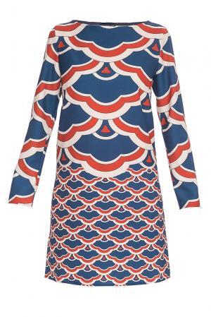 Платье из искусственного шелка 177271 Andrea Turchi. Цвет: разноцветный