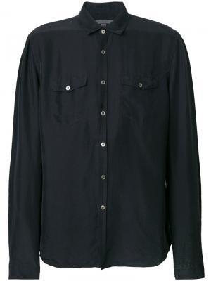 Рубашка с нагрудными карманами John Varvatos. Цвет: синий