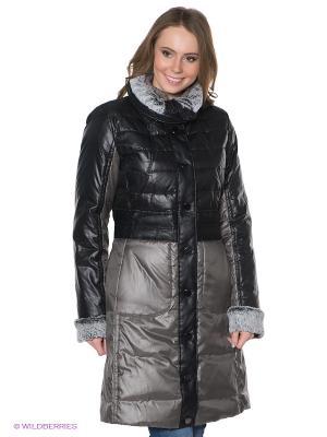 Пальто Discovering. Цвет: черный, серый