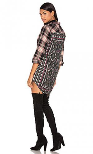 Платье на пуговицах tina Tolani. Цвет: черный
