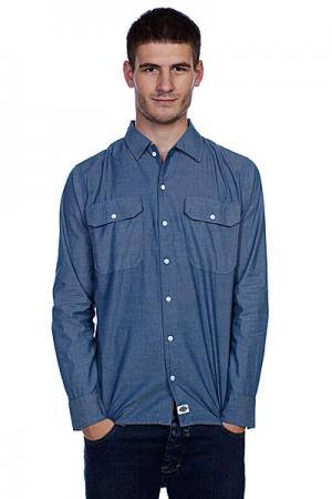 Рубашка  Chambrey Blue Dickies. Цвет: синий