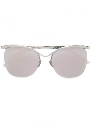 Солнцезащитные очки с круглой оправой Le Specs. Цвет: металлический
