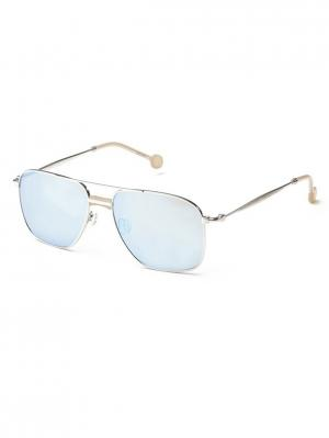 Солнцезащитные очки HS 614S 03 HALLY & SON. Цвет: серебристый, бежевый
