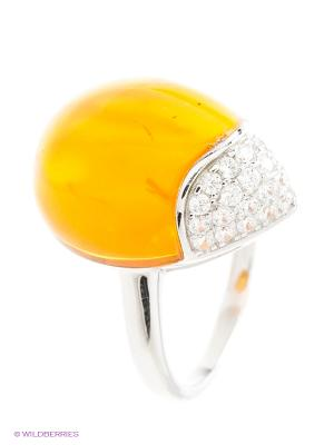 Кольцо Silver Wings. Цвет: серебристый, оранжевый
