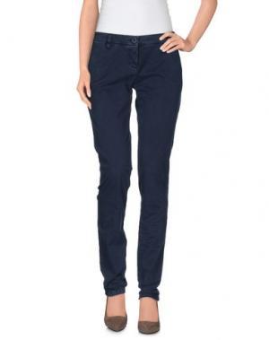 Повседневные брюки UZÈS. Цвет: темно-синий