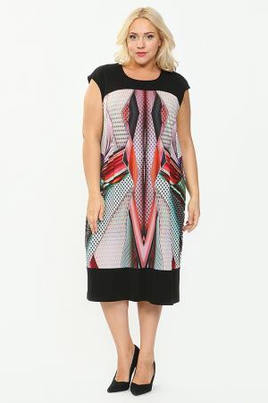 Платье QNEEL Q'NEEL. Цвет: черный, цветной