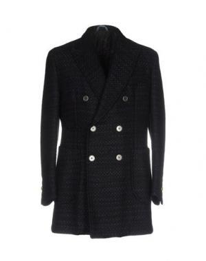 Пальто JOHN SHEEP. Цвет: темно-синий