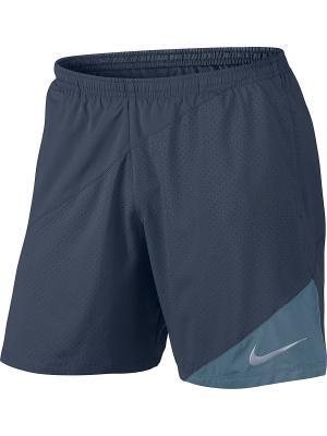 Шорты M NK FLX SHORT 7IN DISTANCE Nike. Цвет: серо-голубой