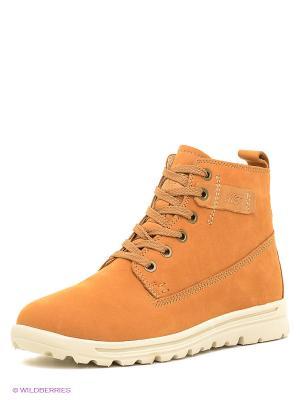 Ботинки Makfly. Цвет: оранжевый