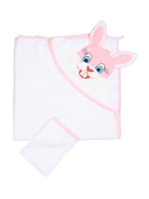 Комплект для купания малышей M-BABY. Цвет: белый, розовый