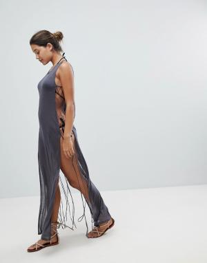 And CO Прозрачное пляжное платье. Цвет: черный