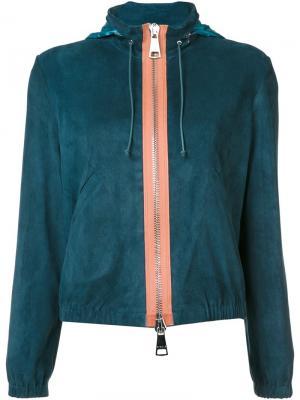 Куртка с капюшоном Stouls. Цвет: синий