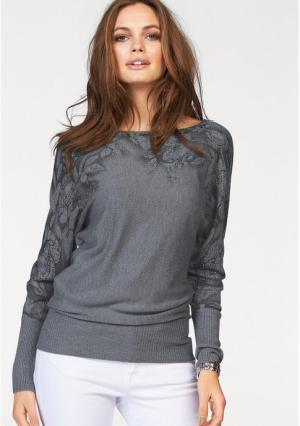 Пуловер MELROSE. Цвет: песочный, розовый, серый