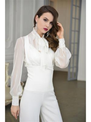 Блузка MORU. Цвет: молочный