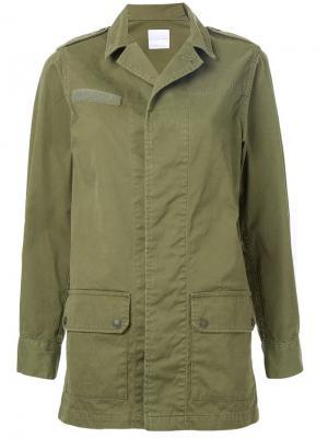 Куртка в стиле милитари Cityshop. Цвет: зелёный