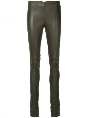 Облегающие брюки-леггинсы Joseph. Цвет: коричневый