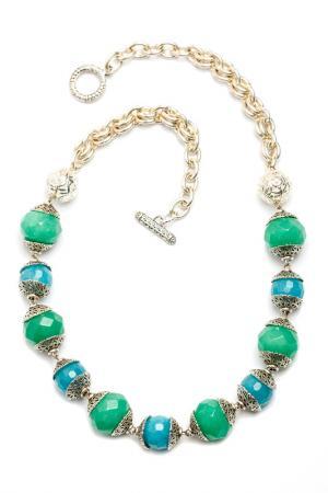 Колье Самоцветы Anastasiya Usoltseva. Цвет: голубой, зеленый, белый