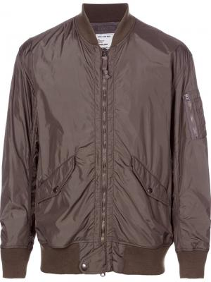 Куртка-бомбер Bonding monkey time. Цвет: зелёный