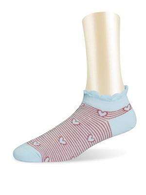 Носки, 2 пары Glamuriki. Цвет: голубой