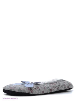 Тапочки HOBBY LINE. Цвет: серый