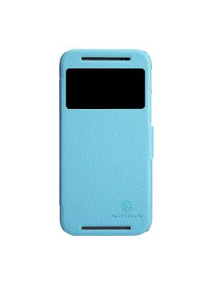 HTC One (M8) Nillkin Fresh Series Leather Case. Цвет: синий