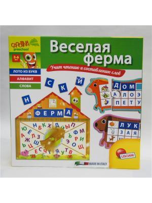 Настольная игра Веселая ферма. Lisciani. Цвет: зеленый, желтый, салатовый