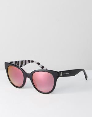 Marc Jacobs Черные круглые солнцезащитные очки 231/S. Цвет: черный