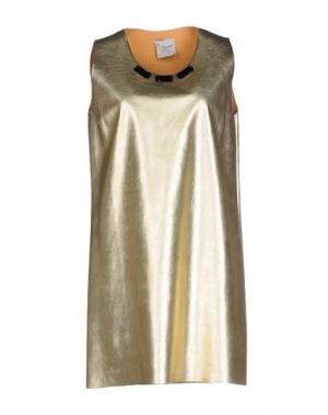 Короткое платье MARIUCCIA. Цвет: золотистый