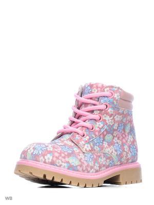 Ботинки Milton. Цвет: розовый, голубой